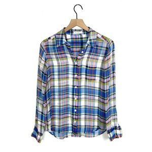 Equipment Bret Multicolor Plaid Shirt